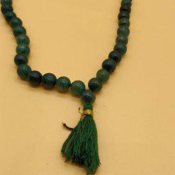 green stone rosary