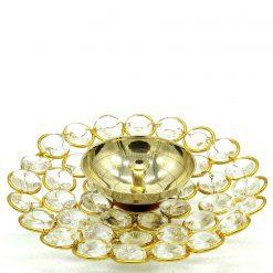 crystal plate diya