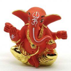 Gold Plated Ganpati Idol - 4cm