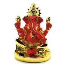 Gold Plated Chakra Ganesha Idol