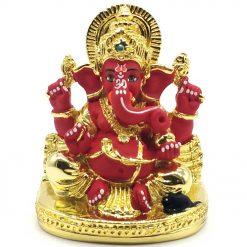 Gold Plated Shwal Ganesha Idol