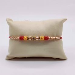 Moti Rakhi - Yellow & Red